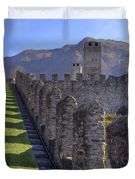 Bellinzona - Castelgrande Duvet Cover by Joana Kruse