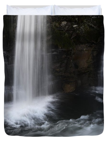 Below The Falls Duvet Cover by Bob Christopher