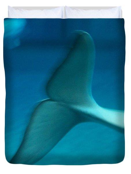 Beluga Tail Duvet Cover by Peter Mooyman
