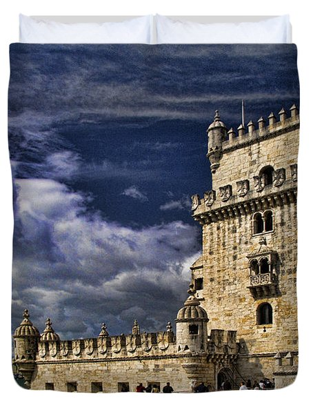 Belum Tower In Lisbon Portugal Duvet Cover by David Smith
