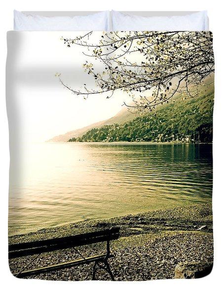 Bench In Autumn Duvet Cover by Joana Kruse