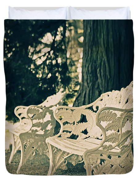Benches Duvet Cover by Joana Kruse