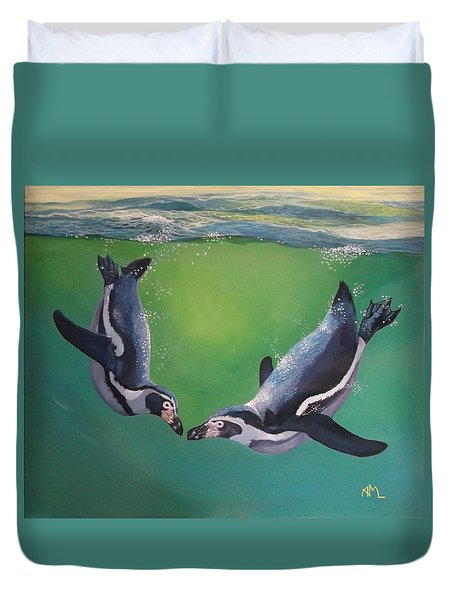 Beneath The Waves Duvet Cover