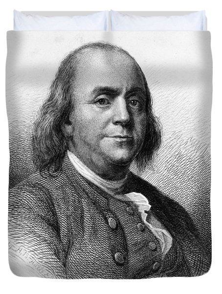 Duvet Cover featuring the photograph Benjamin Franklin by International  Images