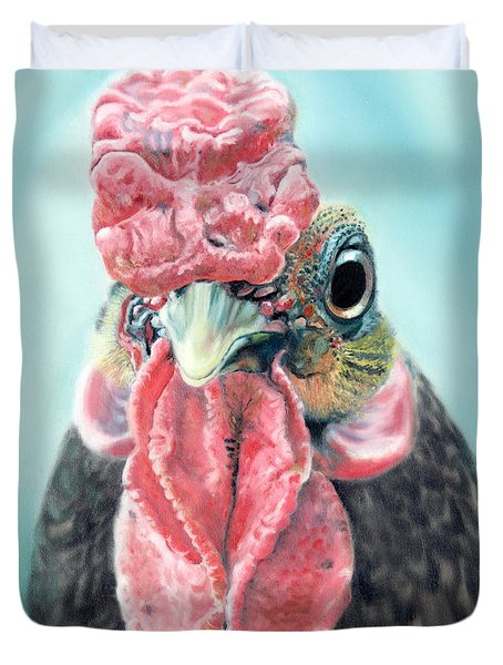 Benny The Bantam Duvet Cover by Baron Dixon