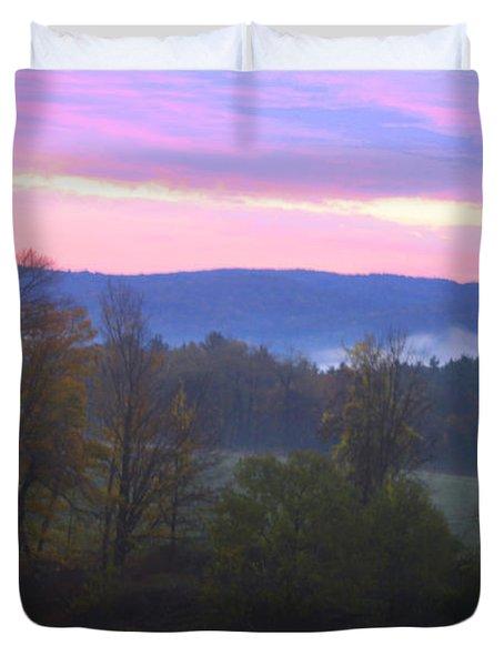 Berkshires Sunrise Duvet Cover by Todd Breitling
