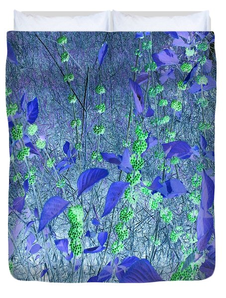 Duvet Cover featuring the photograph Berries In Repose by George Pedro