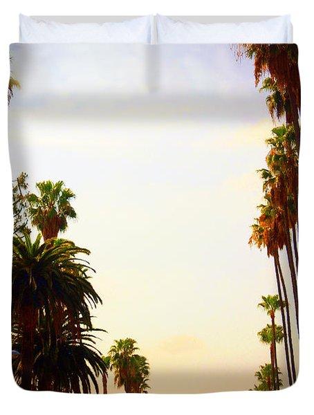 Beverly Hills In La Duvet Cover by Susanne Van Hulst