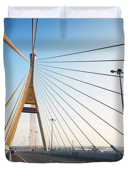 Bhumipol Bridge Duvet Cover by Atiketta Sangasaeng