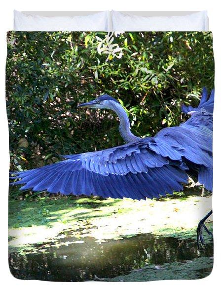 Big Blue In Flight Duvet Cover