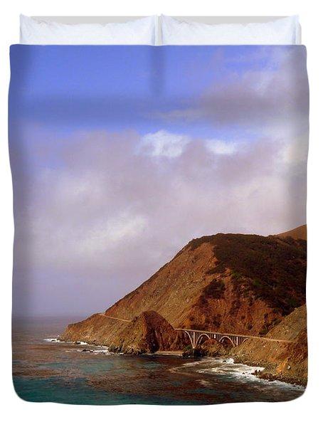 Big Creek Bridge Duvet Cover by Jeff Lowe
