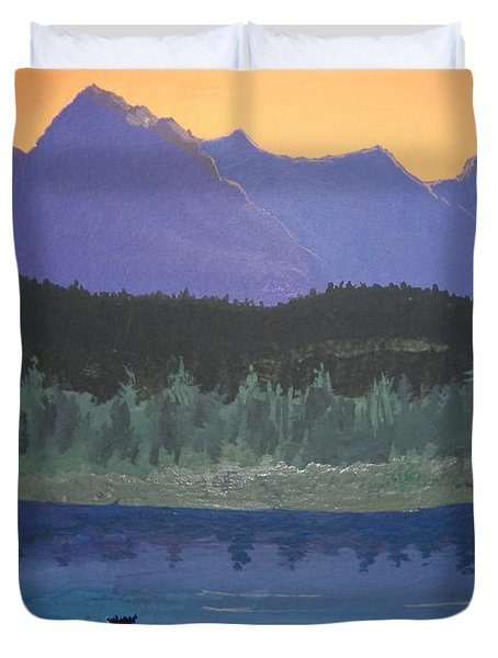 Duvet Cover featuring the painting Big Sky Country by Norm Starks