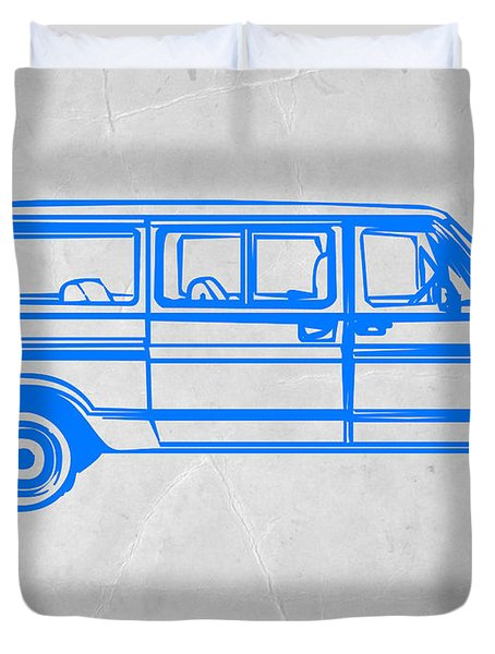 Big Van Duvet Cover by Naxart Studio