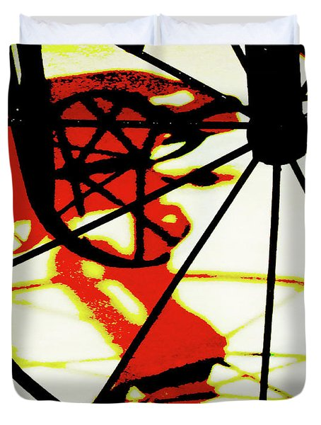 Duvet Cover featuring the photograph Big Wheel by Newel Hunter