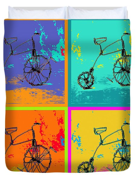 Bike 1b Duvet Cover by Mauro Celotti