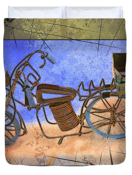 Bike 2a Duvet Cover by Mauro Celotti