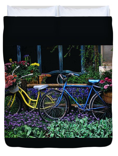 Duvet Cover featuring the photograph Bike Ride by Tammy Espino