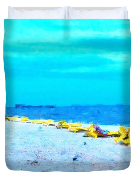 Biloxi Beach Duvet Cover by Scott Crump