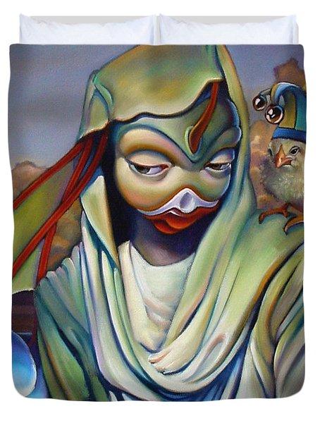Binky's Mistress Duvet Cover by Patrick Anthony Pierson
