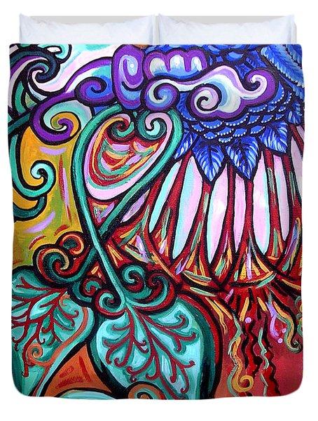Bird Heart I Duvet Cover by Genevieve Esson