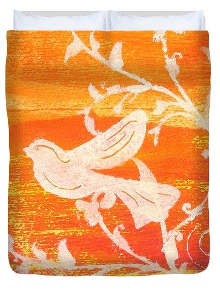 Bird In The Meadow Duvet Cover