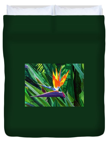 Bird-of-paradise Duvet Cover