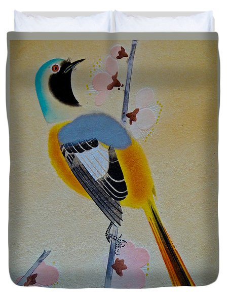 Duvet Cover featuring the photograph Bird Print by Julia Wilcox