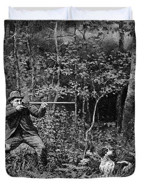 Bird Shooting, 1886 Duvet Cover