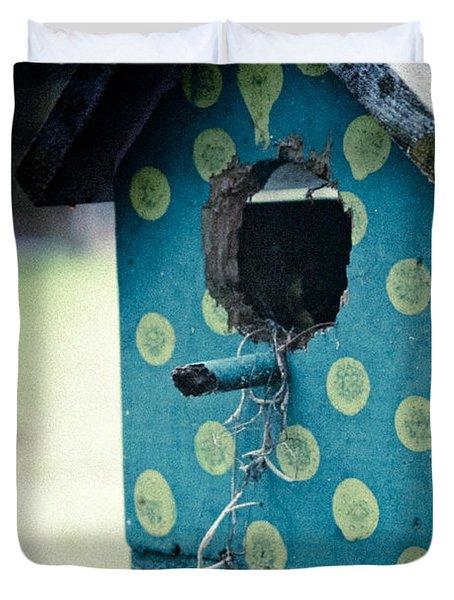 Birdhouse Memories Duvet Cover