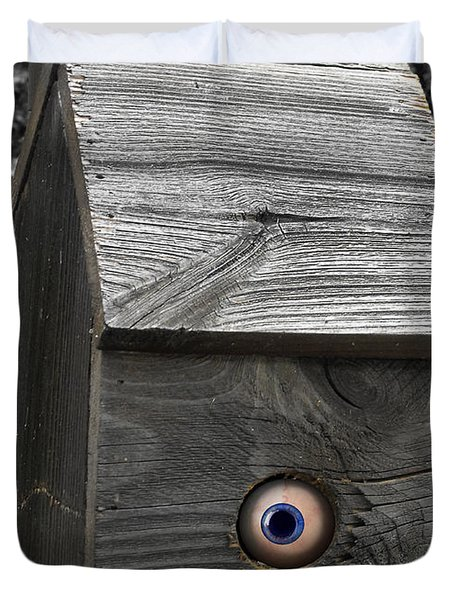Birds Eye View Duvet Cover by Kristie  Bonnewell
