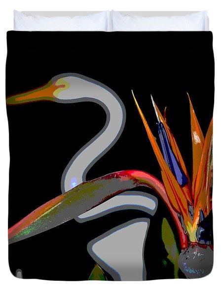 Birds In My Paradise... Duvet Cover