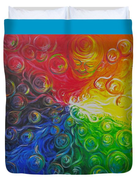 Birth Of Color Duvet Cover by Jeanette Jarmon