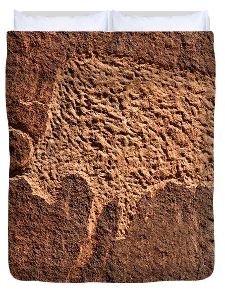 Bison Hunt Duvet Cover by David Lee Thompson