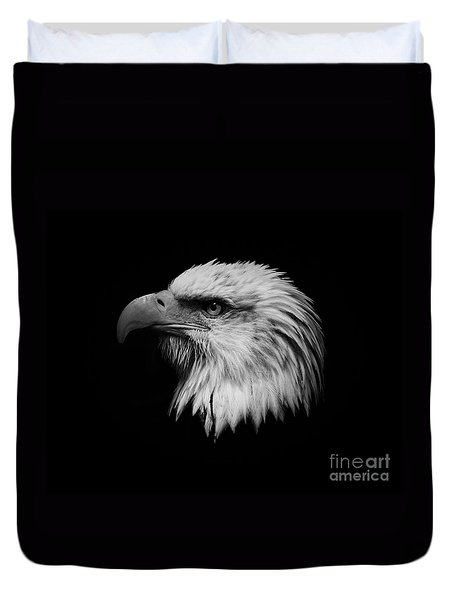 Black And White Eagle Duvet Cover by Steve McKinzie