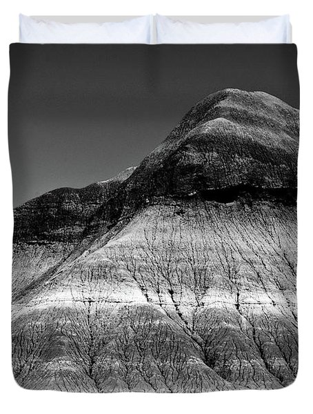 Black And White Painted Desert Duvet Cover by Bob and Nadine Johnston