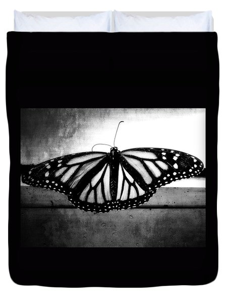 Black Butterfly Duvet Cover by Julia Wilcox