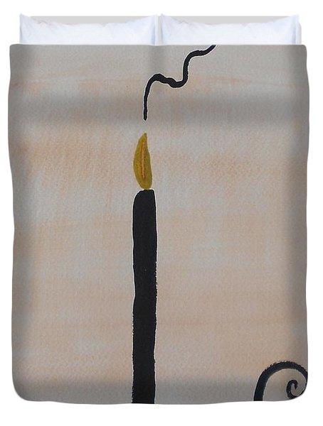 Black Candle Duvet Cover