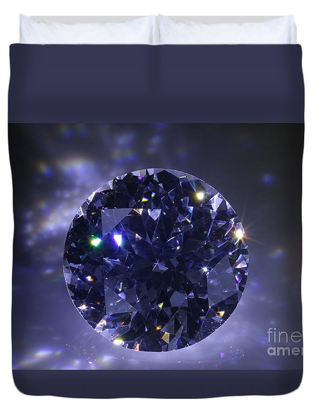 Black Diamond Duvet Cover by Atiketta Sangasaeng