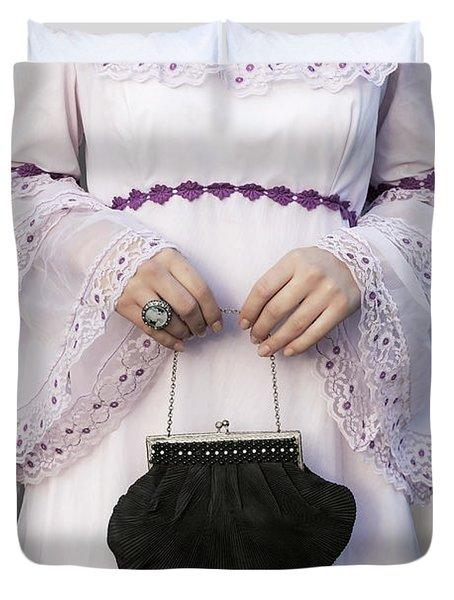 Black Handbag Duvet Cover by Joana Kruse