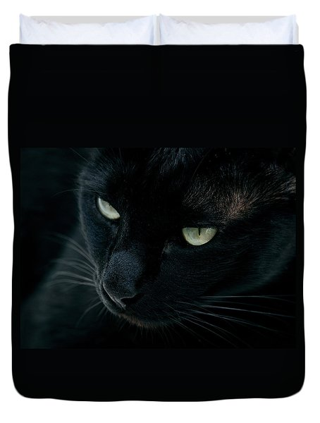 Duvet Cover featuring the photograph Black Panther by Laura Melis