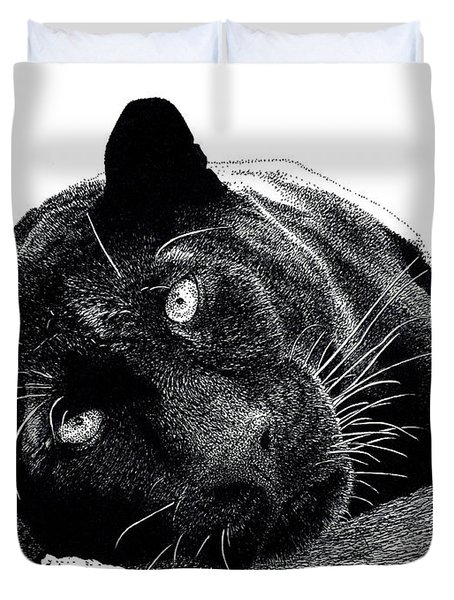 Black Panther Duvet Cover by Scott Woyak
