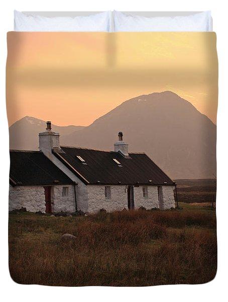 Black Rock Cottage Sunset Duvet Cover