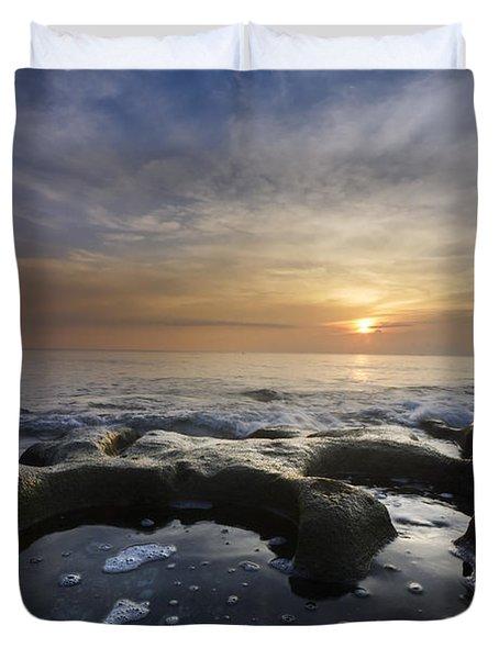 Black Sea Duvet Cover by Debra and Dave Vanderlaan