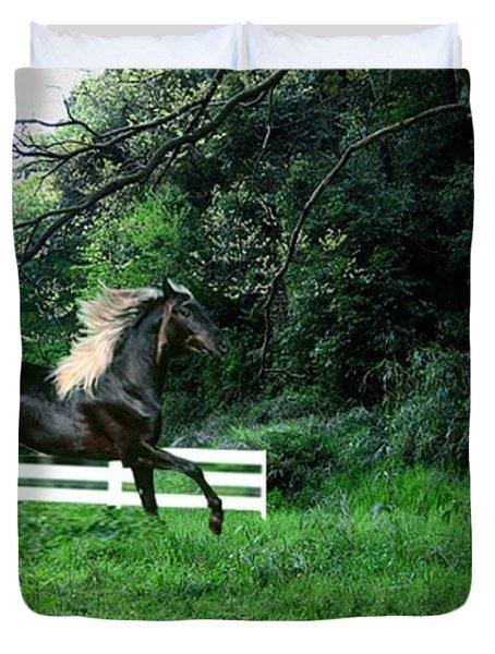 Black Stallion Duvet Cover