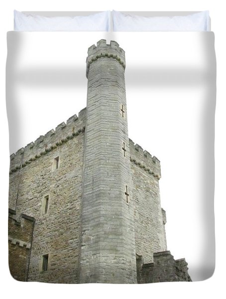 Black Tower Duvet Cover