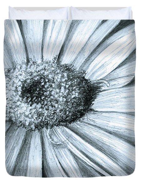 Black White Gerber Duvet Cover