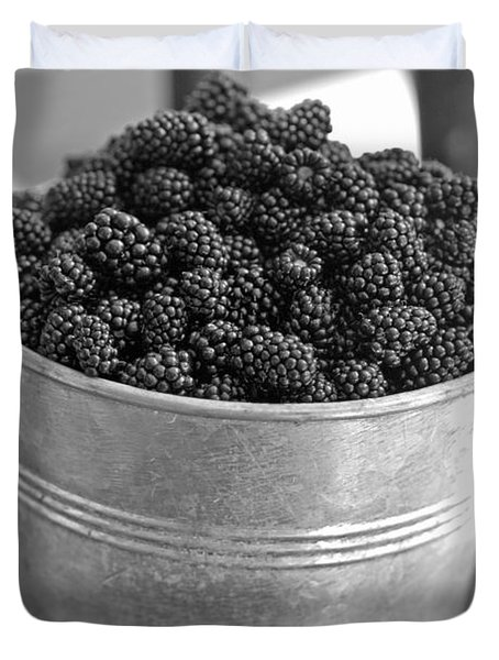 Blackberries In Bucket Duvet Cover