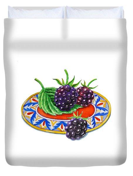 Blackberries Duvet Cover by Irina Sztukowski