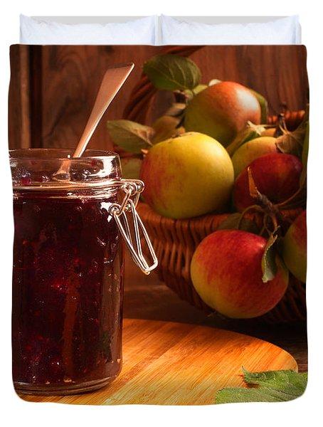 Blackberry And Apple Jam Duvet Cover by Amanda Elwell