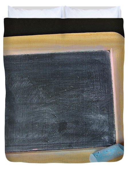 Blackboard Chalk Duvet Cover by Carlos Caetano
